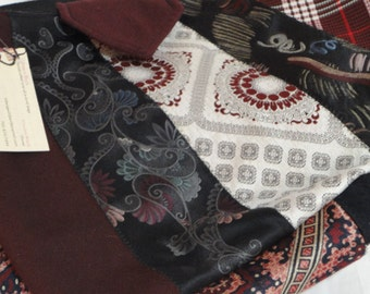 Handcrafted Burgandy Necktie Bag