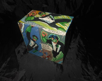 Green Lantern Hand Decorated Moneybox