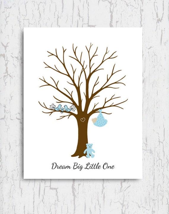 baby shower thumbprint tree fingerprint tree dream big little one
