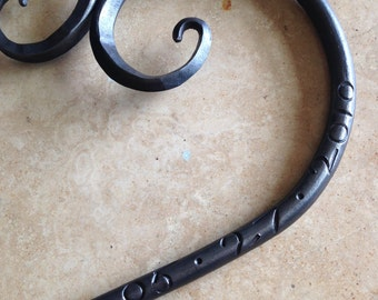 6th Wedding Anniversary or Wedding Gift,  Personalized Iron Heart, Hand Forged, Blacksmith Made, Large Size