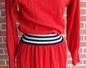 Vintage Long Sleeve Red D...