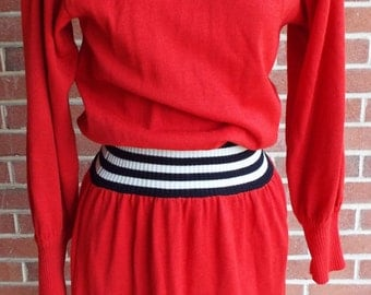 Vintage Long Sleeve Red Dress by Liz Claiborne