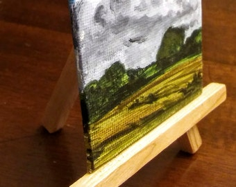 Mini Landscape Painting with Easel