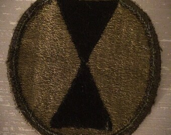 Used Vietnam US Army 7th Infantry Division Subdued Patch U.S. Military