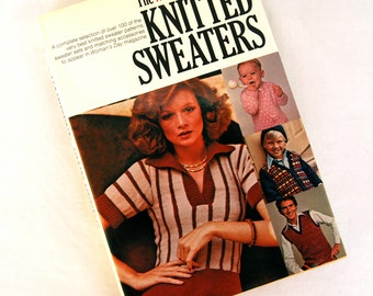 1976 Knitted Sweaters Book by Woman's Day How to Knit Knitting Guide DIY Manual Instructions 1970s Fashion