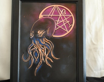 Cthulhu Mythos , Necronomicon , Framed Occult Art