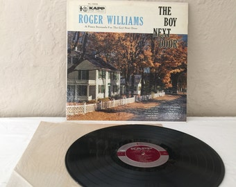 Roger Williams The Boy Next Door Vintage Vinyl Record Album lp 1955 KAPP Records KL 1003