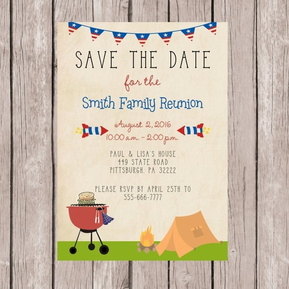 4th of July Invitation from Etsy
