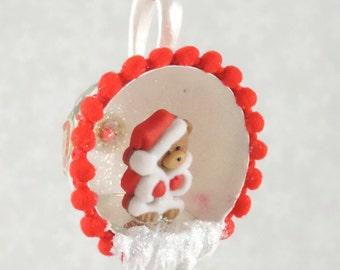 Christmas Teacup Ornament TeddyBear Christmas Tree Ornament Christmas Decorated Egg