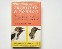 Vintage book Birds of Trinidad & Tobago - tropical, Caribbean, hummingbird, toucan, parrot, plates, illustrations, hardcover, reference