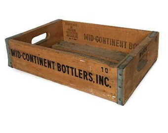 Mid continent bottlers soda crate rustic vintage wood box 1969 Arkansas