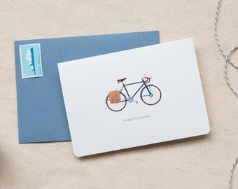 Birthday Card  |  Vintage Bike Male