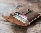 Leather Credit Card Holder -- JooJoobs Original Treasure Chest Wallet - 011 - Groomsmen Bridesmaids Gifts