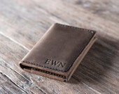 Breast Pocket Wallet PERSONALIZED WALLET - Women's Wallet Leather Wallet / Leather Wallets / 026 /Men Women Leather Wallets - Brown