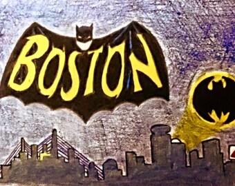 Batman boston skyline