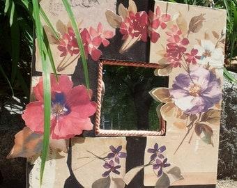 Floral Decoupage Mirror