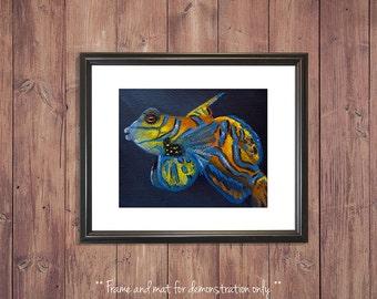 Fish Print from Original Oil Painting, Mandarin Fish, 4x5, 8x10