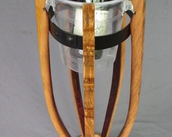 Oak champagne-prosecco- wine cooler stand