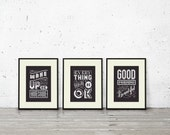 Happy Chalk Words - Cross Stitch Pattern Trio  (Digital Format - PDF)