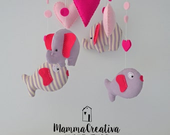 Baby Mobile Mobile-Pink
