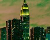 Empire State Building Sunset - New York City - Gotham Green