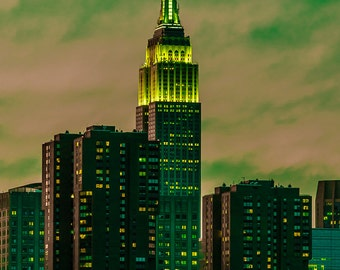 Empire State Building Sunset - New York City - Gotham Green