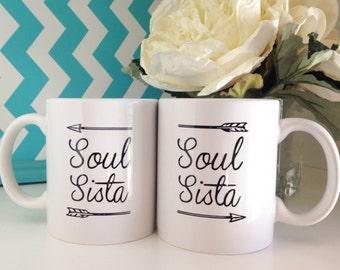 Soul Sista Mug Set, Soul Sister