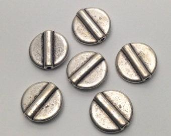 6 connectors antique silver,14.5 mm #CON013