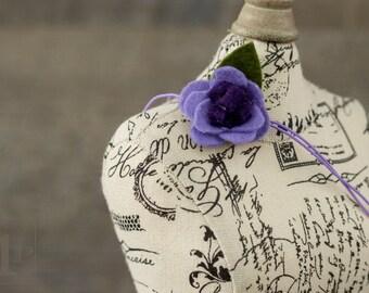 LE FLEUR - Purple Felt Flower Baby Headband - Many Color Options Available