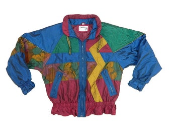 Vintage Color Block Abstract Jacket