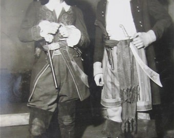 Original 1930's Pirates of the Caribbean  School Play Snapshot Photograph - Free Shipping