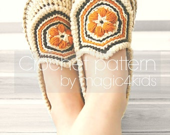Crochet pattern - women slippers with rope soles,all women sizes,loafers,shoes,adult,women,girl,soles pattern included,cord soles,twine