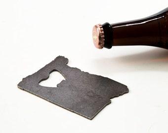 Wedding Gift Oregon Steel Bottle Opener - Travel Souvenir, Groomsmen Gift, Wedding Favor, Christmas Gift
