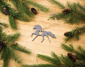 Heart Horse Steel Ornament