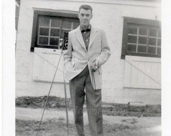 the handsome photographer ~ Vintage Photo ~  military man snapshot