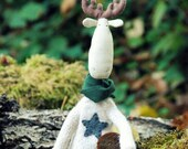Christmas Elk-Primitive Elk-Christmas Reindeer-Christmas Decorations Handmade-Scandinavian Christmas-Christmas Decor Rustic