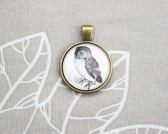 Albrecht Durer Owl Animal study art artist painting round pendant charm picture