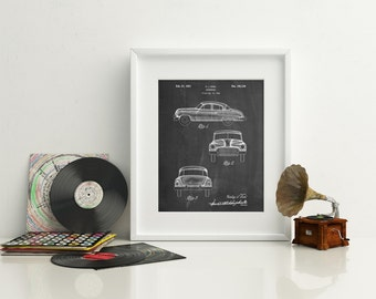 Buick Super 1949 Car Patent Poster, Classic Car Decor, Vintage Car, Car Wall Art, Car Enthusiast, PP0134