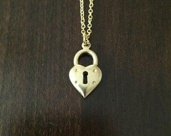 gold heart necklace, heart necklace, heart jewelry, heart pendant, heart, gold heart, heart lock, heart lock necklace, gold heart lock