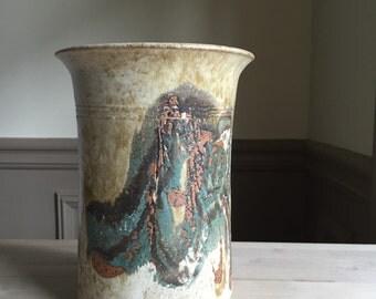 Signed Vintage Studio Pottery Vase