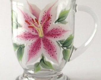 Stargazer Lilies Cafe Mug