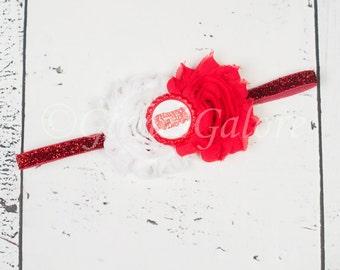 Valentines Baby Headband, Baby Headbands, Valentines Headband, Valentines Hair bow, Baby Headband, Newborn headband, Chiffon Headband