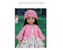 "Lace Knit Cardigan & Lace Cap for Diana Effner's 13"" Little Darling Dolls and 14"" Betsy McCall Dolls"