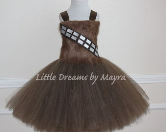 Chewbacca inspired tutu dress, Chewbacca inspired outfit, Star wars birthday party inspired tutu dress size nb to 10years