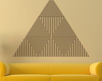 Triangle Vinyl Sticker Abstract Lines Wall Decal Geometric Shapes Pattern Interior Art Ideas Design Removable Bedroom Home Decor Mural AR237