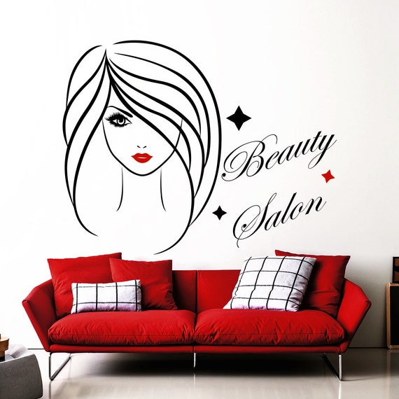 Wall Decals Fashion Girl Decal Beauty Hair Salon By Decalhouse