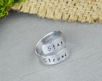 Stay Strong Wrap Ring