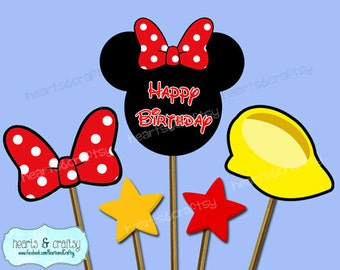 Mickey Mouse Centerpiece Cutouts / Mickey Mouse Party Cake