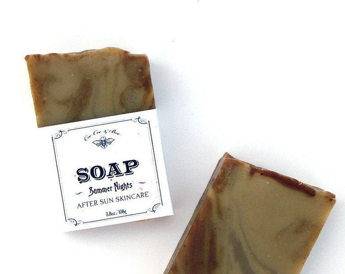 Summer Nights Aloe Vera Handmade Soap Bar // gift for the beach bum