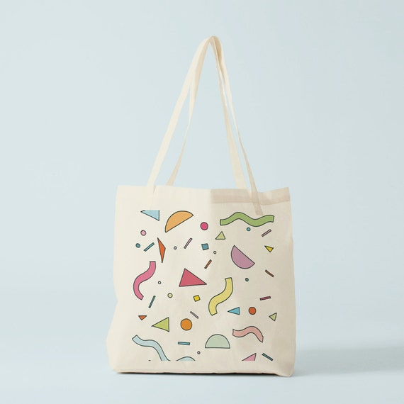Tote Bag Birthday decor, canvas bag, groceries bag, laptop bag, yoga bag, gift for coworker.